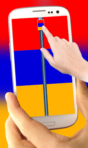Armenia Flag Zipper LockScreen