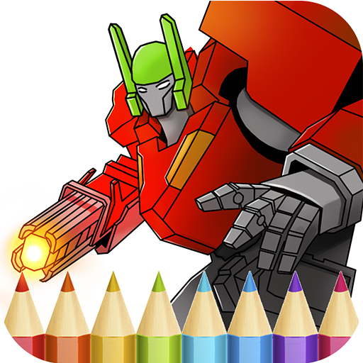 Robots Coloring Book for Boys