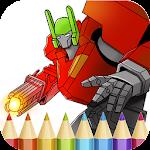 Robots Coloring Book Icon