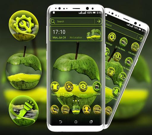 green apple launcher theme screenshot 1