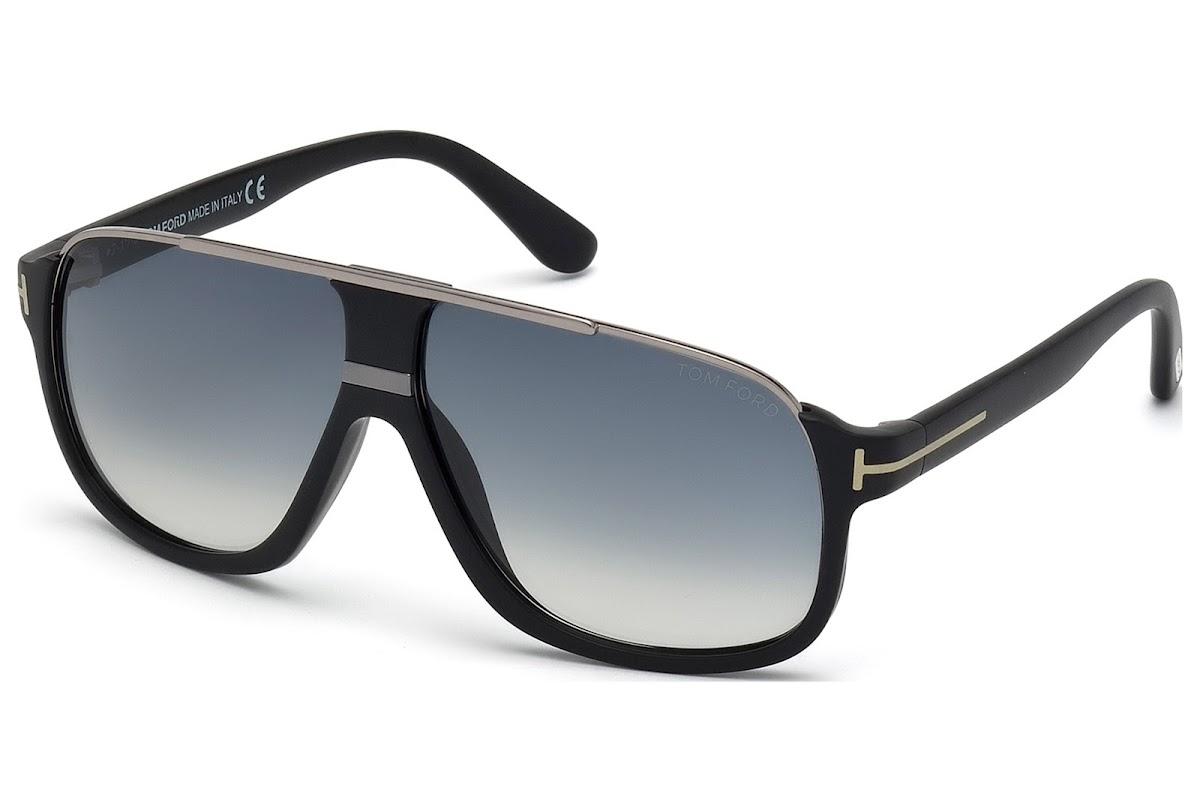 251b6a5ef46 Sunglasses Tom Ford Eliott FT0335 C60 02W (matte black   gradient blue)