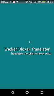 English Slovak Translator - náhled