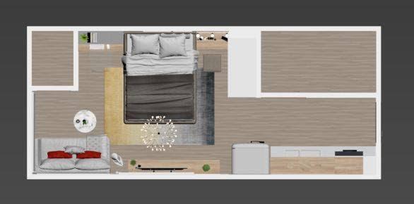 cách bố trí căn hộ 40m2
