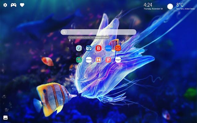 Aquarium Underwater Fish New Tab HD Wallpaper