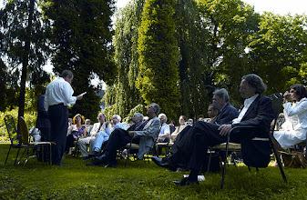 Photo: Preisverleihung in Heidelberg 19.-22.Juni 2003. PreistrŠger 2003 Joseph Zoderer. Lesung.