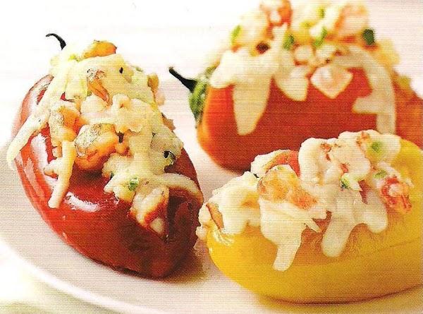 Garlic Shrimp Stuffed Sweet Mini Peppers Au Gratin Recipe