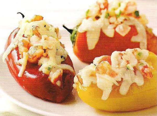 Garlic Shrimp Stuffed Sweet Mini Peppers Au Gratin