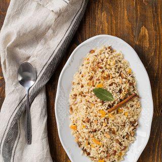 Moroccan Rice (pilaf).