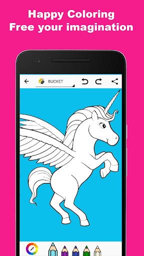 Pony Unicorn Coloring Book  screenshots 3