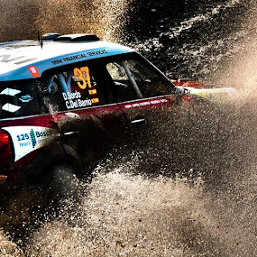 Dani Sordo @ Wales RAlly GB, 2011  by Paschalis Angelopoulos - Sports & Fitness Motorsports ( rally, sweet lamp, wrc, wales, watersplash, mini wrc. sordo, dani, mini, mini cooper,  )