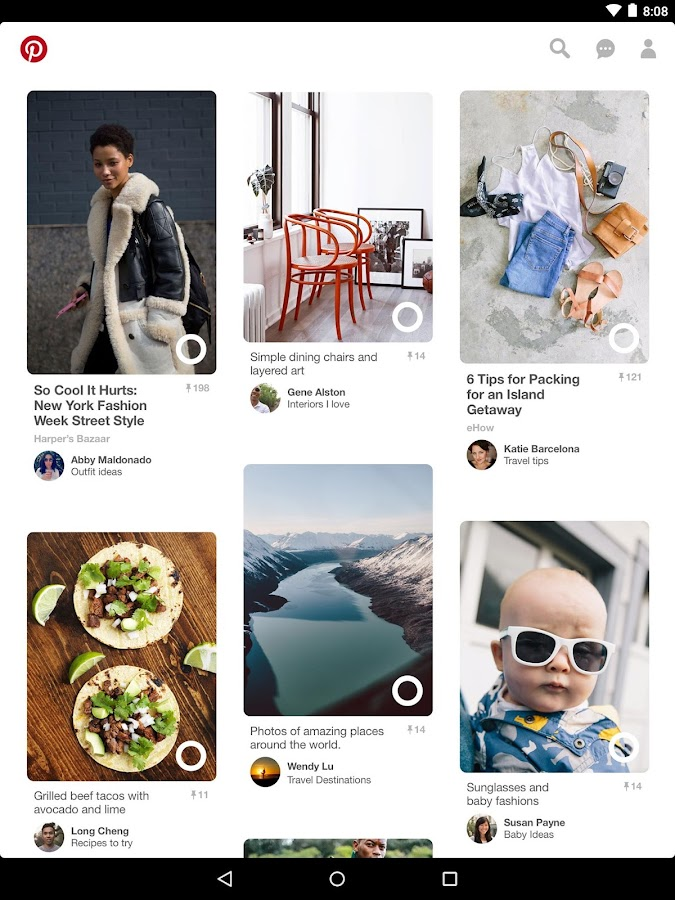 Pinterest- screenshot