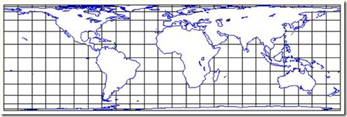 The Lambert cylindrical equal-area projection