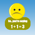 Math game education fun kids icon