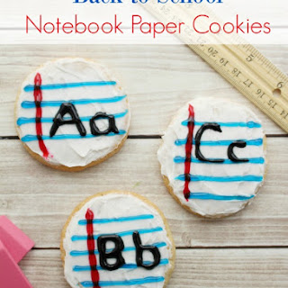Back to School Homemade Sugar Cookie