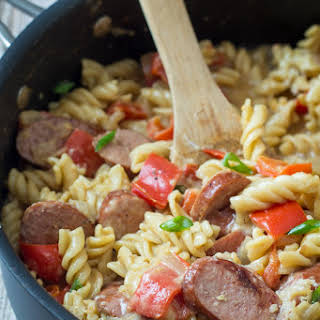 Sausage and Pepper One Pan Pasta Skillet.