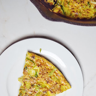 Easy Brussels Sprouts + Leek Frittata (Low Carb, Whole30).