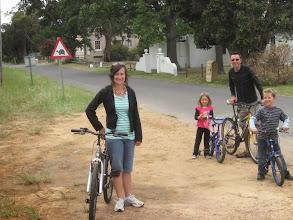 Photo: Cycle tour on our mini-vacation to Kleinmond