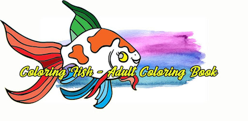 little dophin on Coloring Fish - Adult Coloring Book
