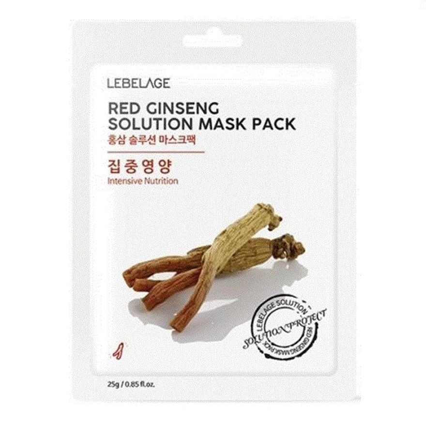 mặt nạ cho da hỗn hợp thiên khô Lebelage Red Ginseng Solution Mask Pack Intensive Nutrition