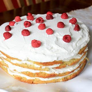 Lemon Poppyseed Cake {with Cream Cheese Frosting}