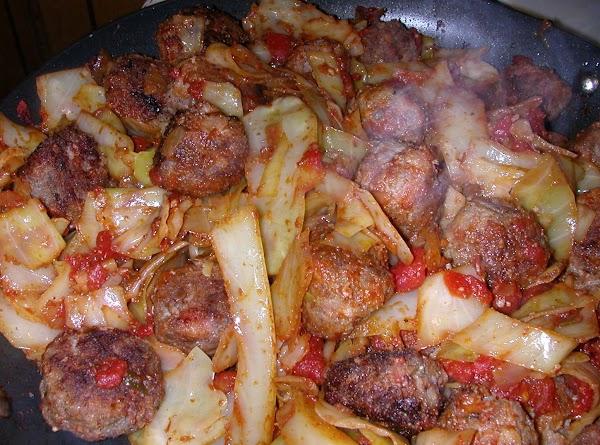Italian Meatballs With Cabbage Recipe