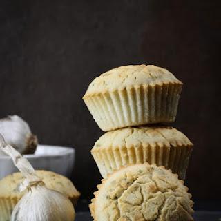 Garlic & Chive Dinner Muffins (Vegan, Gluten-free, Oil-free)