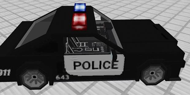 Police CarMod for Minecraft - náhled