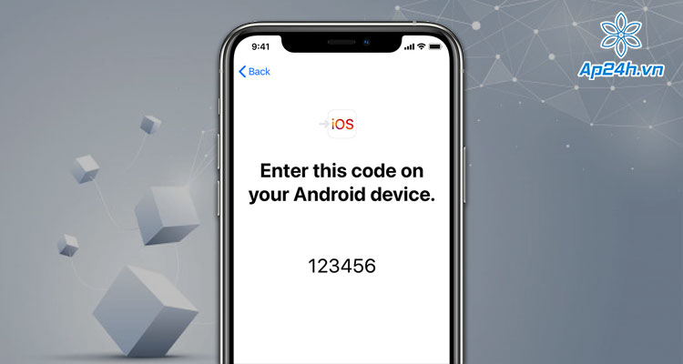 Nhập mã bảo mật để chuyển dữ liệu