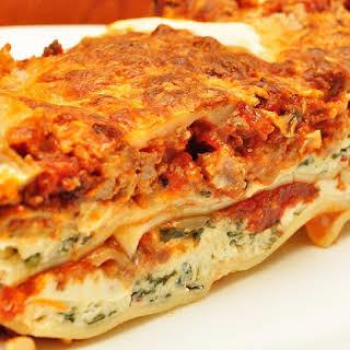 Italian Lasagna with Ricotta Cheese.