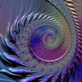 Coiled by Amanda Moore - Illustration Abstract & Patterns ( spirals, fractal art, mandelbrot, spiral, fractal, fractals )