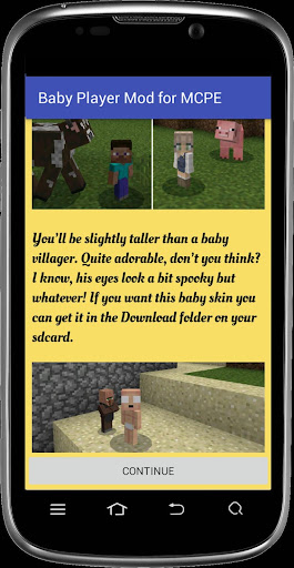 Baby Player mod for MCPE for PC