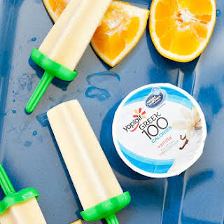 Orange Creamsicle Yogurt Popsicles.