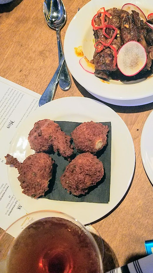 Tanner Creek Tavern Gruyère, Country Ham, and Olive Fritters