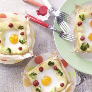 Eggs in Potato Nests.
