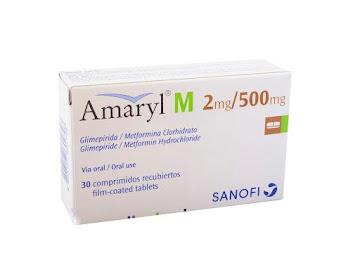 Glimepirida + Metformina Amaryl M 2/500Mg Comprimidos Caja X30Com Sanofi