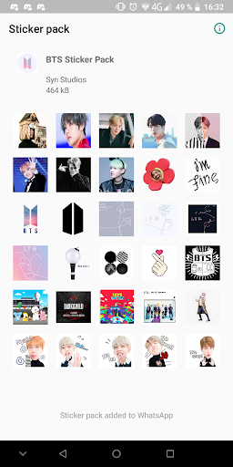BTS Sticker Pack 2.1.1 screenshots 1