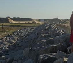 Photo: Obras no quebra-mar no Açu