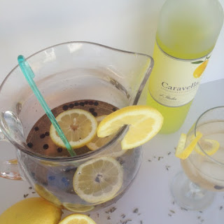Blueberry-Limoncello Sangria {with Lavender-Infused Simple Syrup}