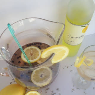 Blueberry-Limoncello Sangria {with Lavender-Infused Simple Syrup}.