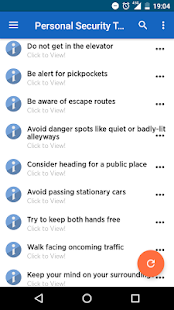 Personal Security Tips- screenshot thumbnail