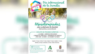 Miniolimpiadas para celebrar el Día de las Familias en la provincia de Almería.