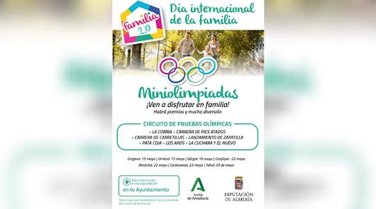 Las Miniolimpiadas en Familia recorren municipios de la provincia