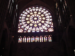Photo: The rose window of St. Denis.
