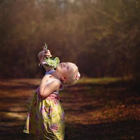Melody by Beth Ann - Babies & Children Child Portraits ( girl, sunlight, woods, spring, flower )