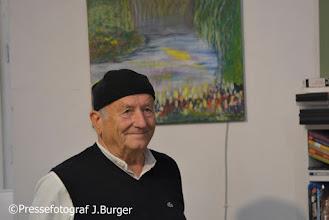 """Photo: Vernissage Oskar Trücher """"Figuratives und Abstraktes"""" am 5.9.2015 in der Kunst - Werk-Werk - Kunst-Galerie. Oskae Trücher"""