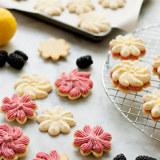 Lemon Blackberry Sandwich Cookies