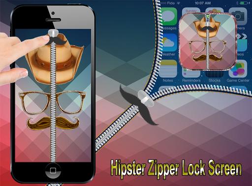 Hipster Zipper Lock Screen