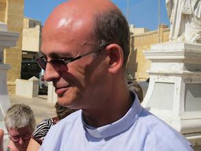 Photo: 13.10.09Gozo,Victoria : P. R.Abdila, secrétaire provincial Ordre, couvent St Augustin