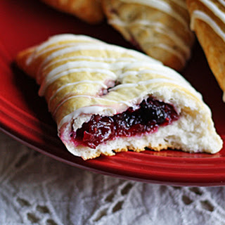 Easy Cranberry Hand Pies with White Chocolate Drizzle