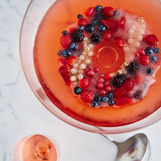 Rosé Sangria with a Mixed-Berry Ice Ring